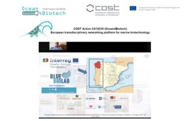 El CICA-UDC presenta el BLUEBIOLAB en el Workshop del COST Action Ocean4Biotec