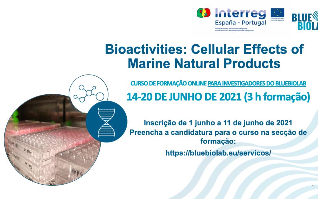 O BLUEBIOLAB apresenta o curso Bioactivities: Cellular Effects of Marine Natural Products